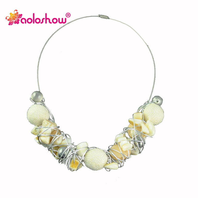 Collier Femme 2017 Bohemia Style Handmade Beads Collar for Ladys Choker Necklaces Cloth Package Beads Collar Necklace Nl-1308