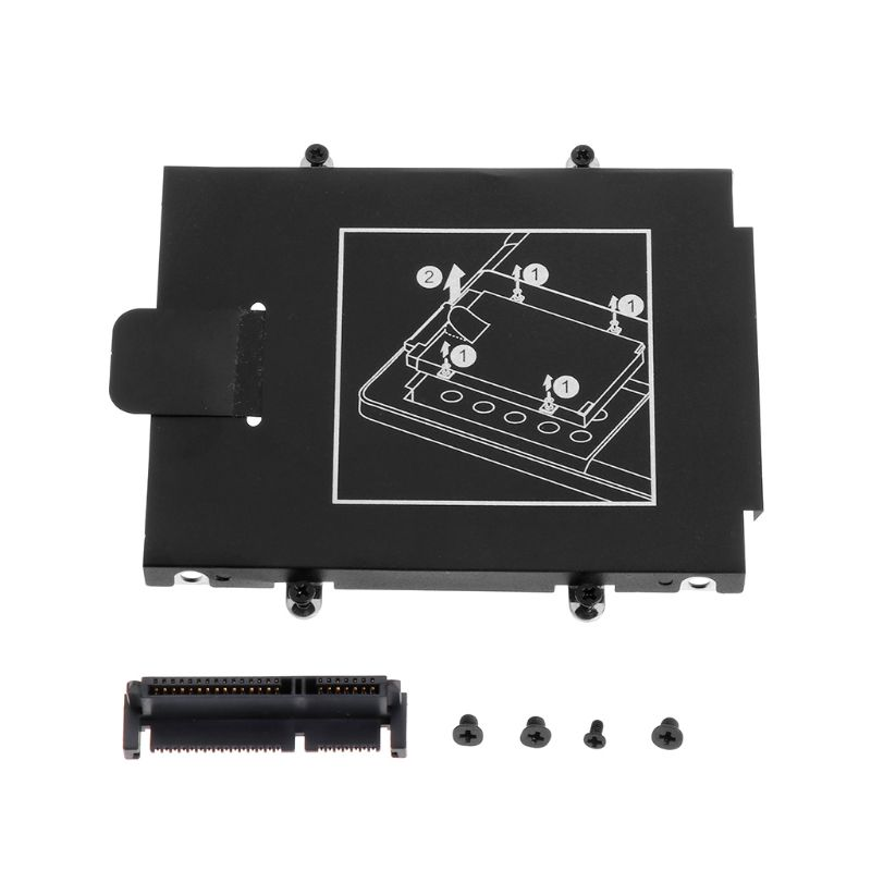 Laptop Accessory Hard Drive Bracket Caddy With 8 Screws For HP ProBook 640 G1 G2