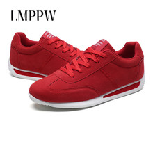 2019 New Classic Shoes Men Casual Fashion Sports Breathable Lace Up Flats Suede Leather Sneakers Gray Red Black