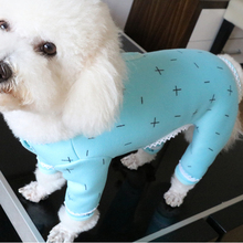 Pet Dog Jumpsuit Autumn Winter Warm Monolayer Plus Velvet Puppy Clothes Long Sleeve Bouncy Pajamas For Small Dogs Chihuahua Pug