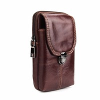 Universal Genuine Leather Cell Phone Bag Belt Clip Pouch Waist Purse Case Cover For iphone X 8 8plus 7 7plus For Samsung S9 plus