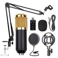 Bm800 profesyonel süspansiyon mikrofon kiti stüdyo canlı akışı yayın kayıt kondenser mikrofon seti podcast