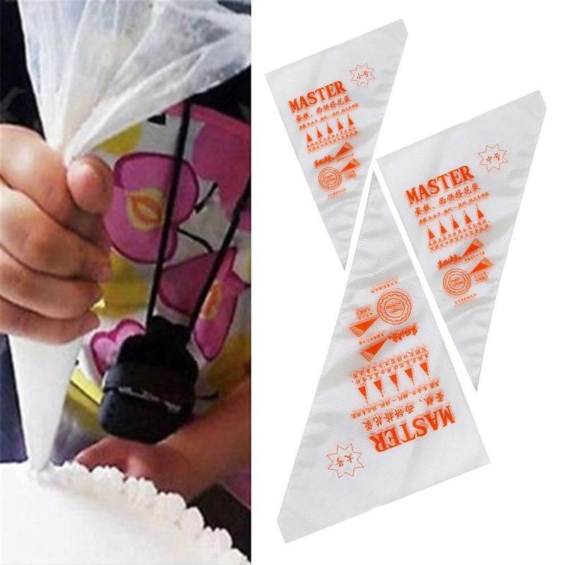 2019 100pcs/bag Disposable Piping Bag Icing Nozzle Fondant Cake New Arrival None Squeeze Bottles Plastic Dessert Tools