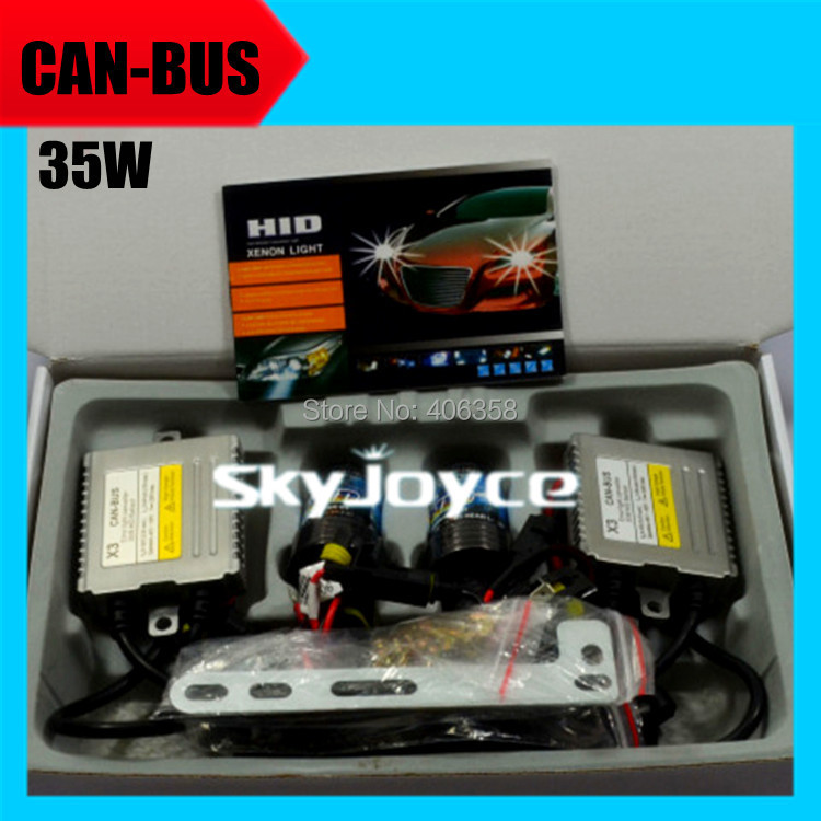 5 sets DHL shipping canbus hid ballast kit 35W 12V no error/error free xenon hid kit headlight system AC H1 H3 H7 H11 9005 9006
