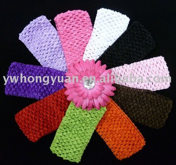 Crochet headband waffle headband for toddler 2.75inch 10 hot sale colors in stock U Pick
