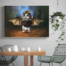Abstract Paintings for Living Room Wall Art Canvas Prints Citters Rabbit Batman Pilot Baby Decoration Room Wall Picture Anime(China)