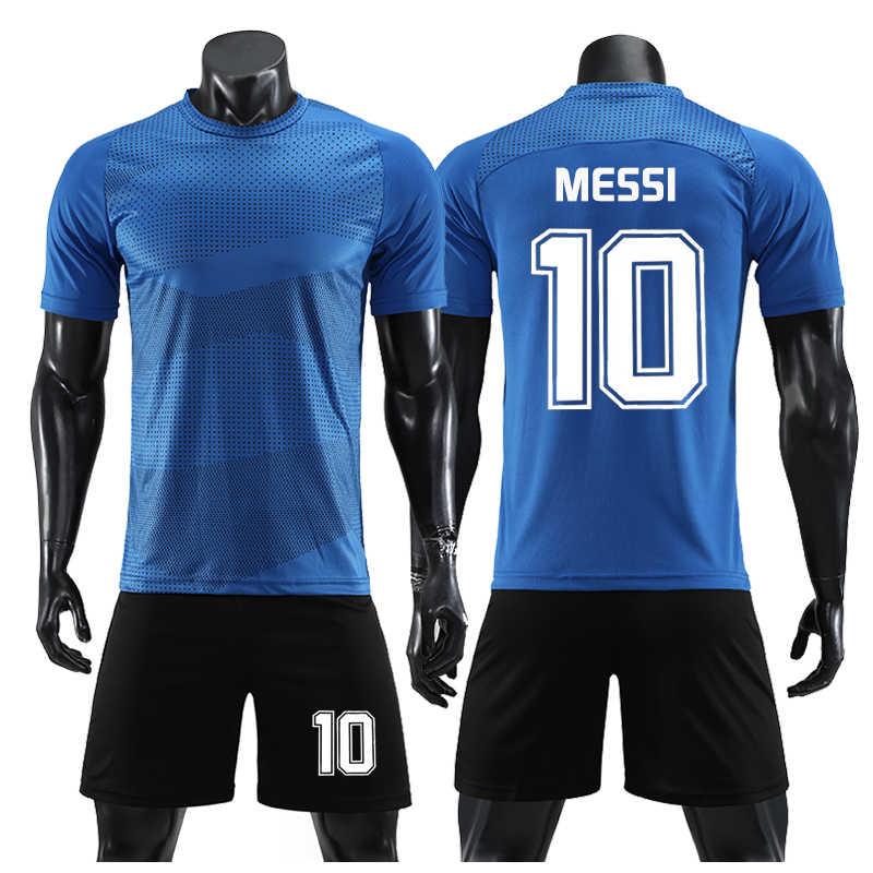 reputable site 1915b 8cdfb MBAPPE MESSI Football Soccer Jerseys Kit Men Camiseta Futbol Survetement  Training set Custom 2019 Breathable uniforme futebol