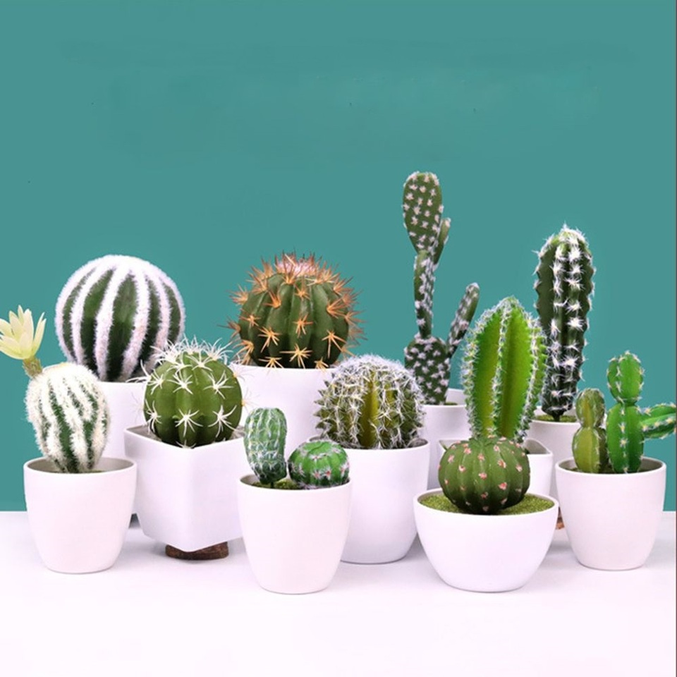 Garden Miniature Fake Cactus Diy Home