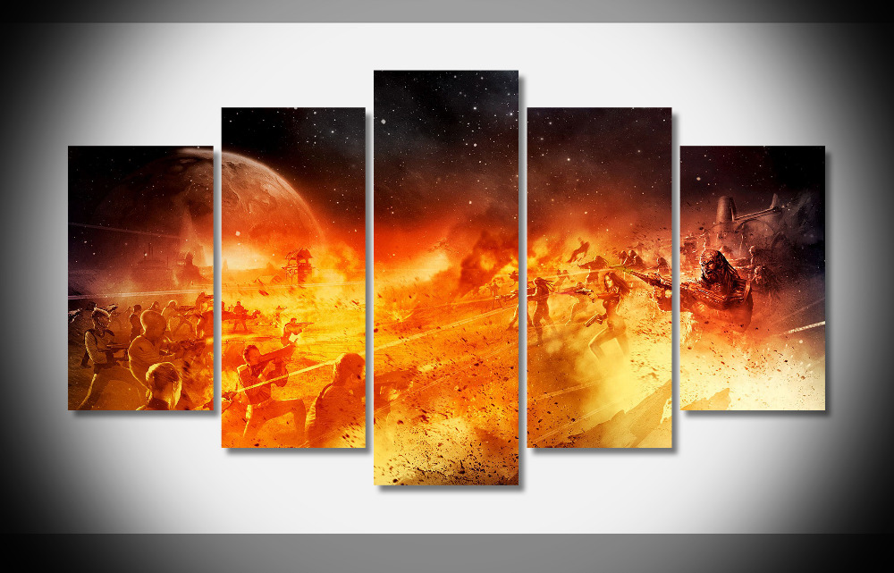 7399 star trek online battle poster framed gallery wrap art print home wall decor gift wall picture already to hang digital
