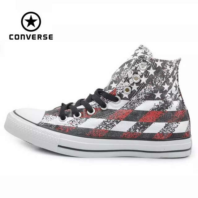 f98940debe82 placeholder Original Converse all star shoes national flag Color matching  high men women s sneakers canvas classic Skateboarding