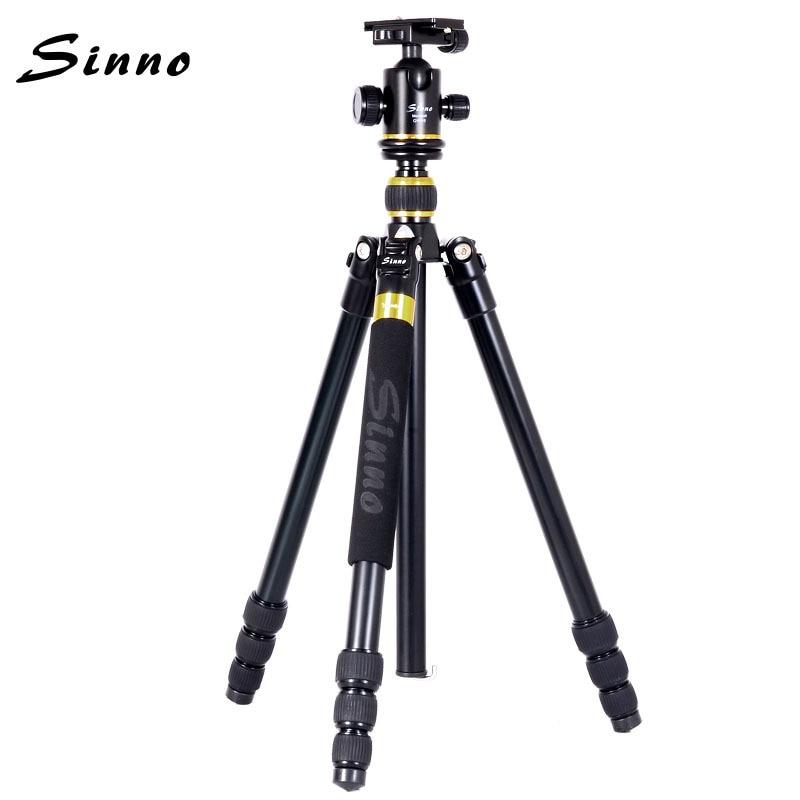 Aluminum Professional Tripod Monopod Sinno F-2425Z Professional Photographic Portable Alloy Tripod For Canon Nikon Sony DSLR new sys700 aluminum professional tripod