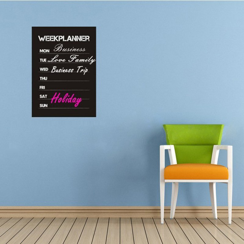Wall stickers month planner blackboard office home decor for Home decor planner