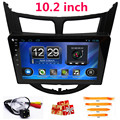 10.2 inch Quad Core Android Car DVD player For Hyundai/Solaris/accent/Verna/i25 with Navigation gps Bluetooth radio Wifi