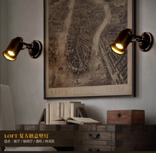 Retro Vintage Industrial Edison Simplicity Light Adjustable Wall Light Sconces Aged Steel Finished Antique E27 LED
