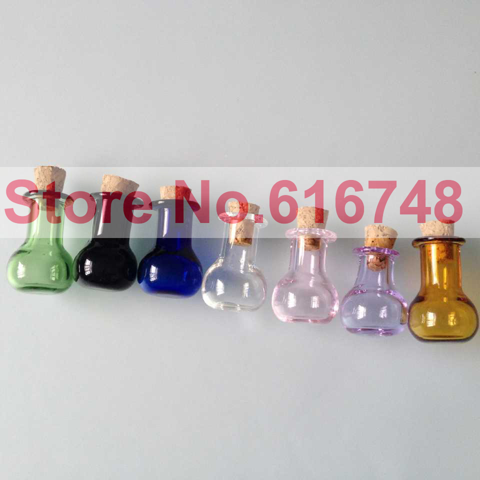 FreeS 2ml glass bottles With Wood Cork stoppers Flat Bottom Bulb Shaped  Bottle Multi Colored Glass bottles Small glass vial cork on Aliexpress.com  | Alibaba ...