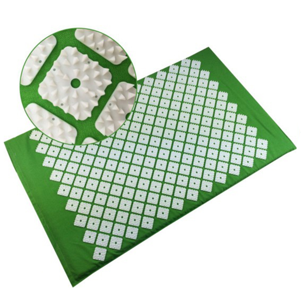 34nails/spike Acupressure Mat Square Shape Shakti Mat Body Head Back Yoga Cushion Massager Relieve Mind Stress and Pain MP0011 hanriver massager cushion for shakti