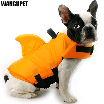 Shark Dog Life Jacket Safety Clothes Pet Life Vest Summer Dog Swimming Clothing French Bulldog Fin Jacket Play in the Sea 2