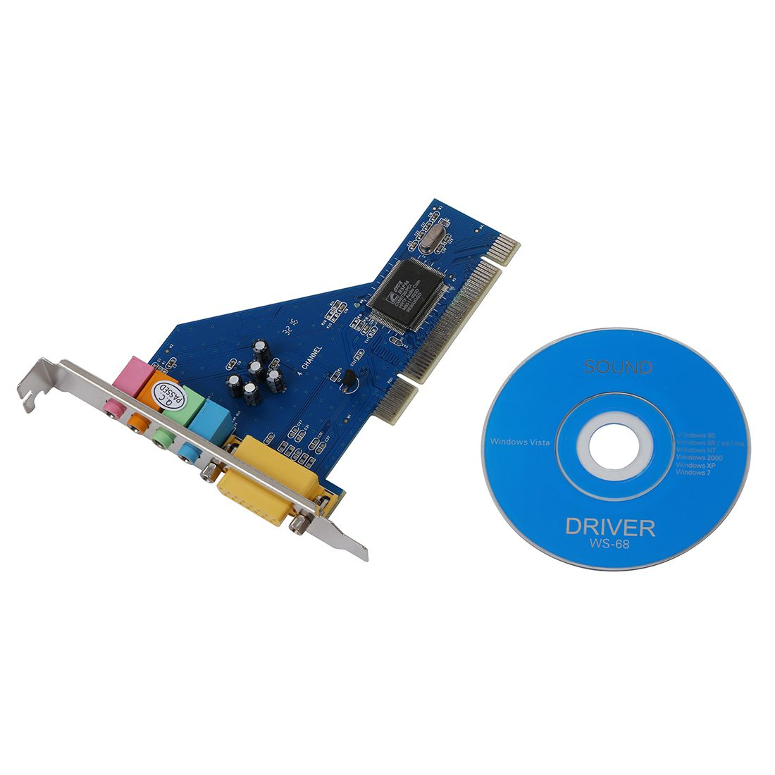 4 Channel C Media 8738 Chip 3D Audio Stereo Internal PCI Sound Card Win7 64  Bit-in Sound Cards from Computer & Office on Aliexpress.com | Alibaba Group