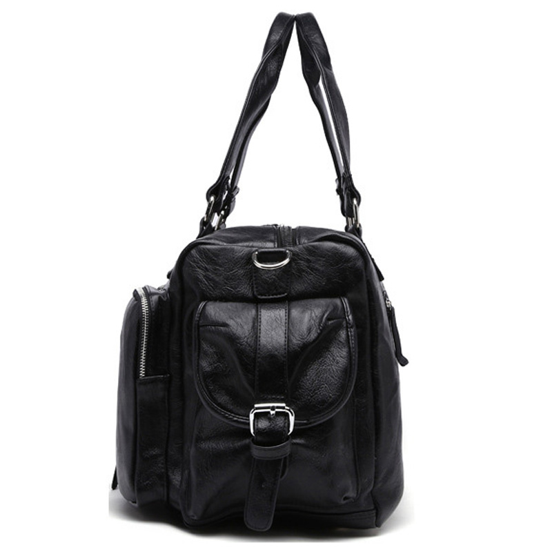 New Trend Mens PU Leather Sports Bag Outdoor Gym Kapasiti Besar Sukan - Beg sukan - Foto 3