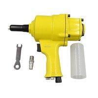 Double Cylinder Pneumatic Nail Gun Kp 706P Automatic Pull Rivet Gun Industrial Grade Wind Core Rivet Gun
