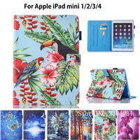 Fashion Print Case For Apple IPad Mini 1 2 3 4 Smart Case Cover Funda Tablet