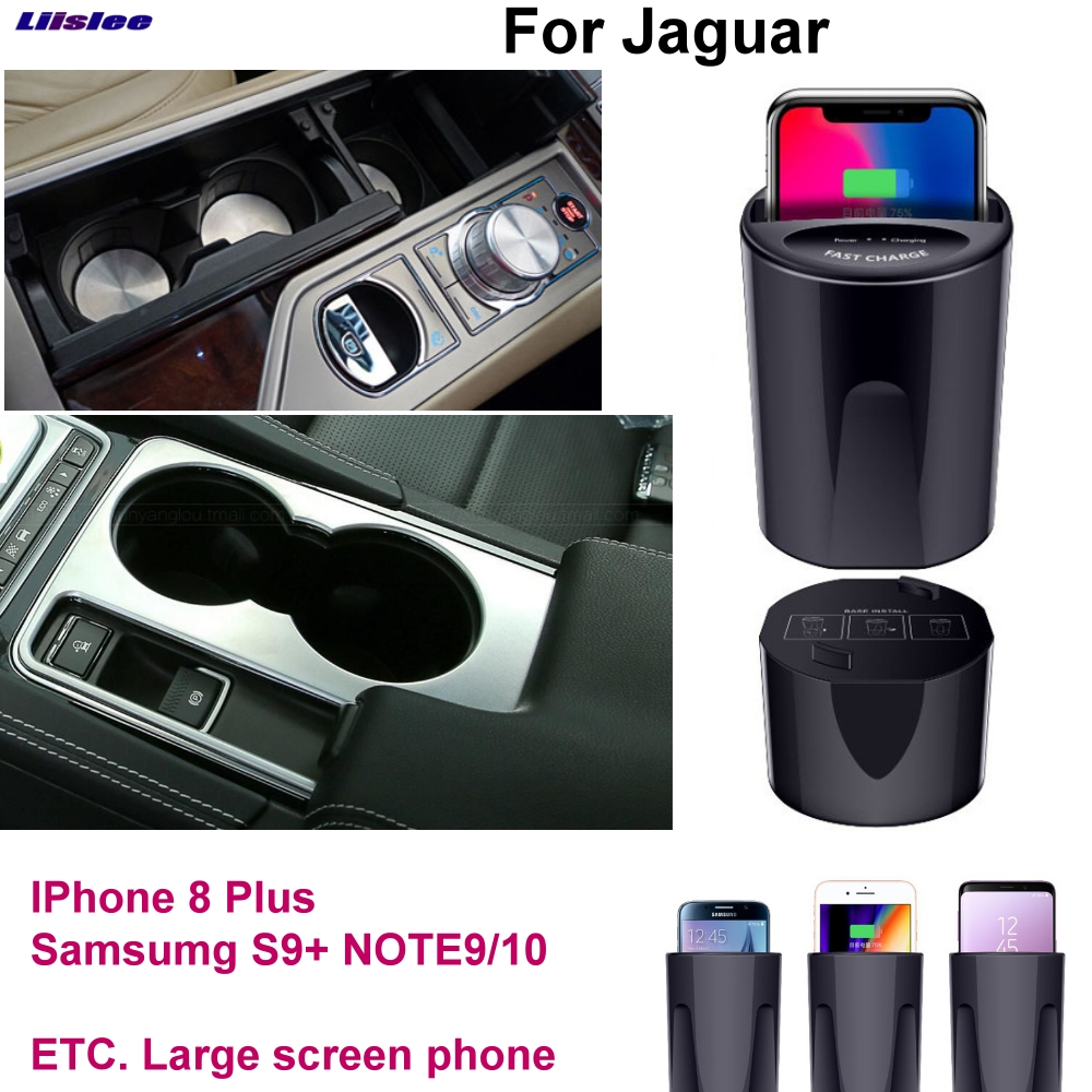 Voiture Rapide Qi Sans Fil De Charge support pour téléphone chargeur Rapide Pour Jaguar E F I Pace F Type XE XF XJ