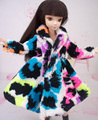1 Pc Colorizado Fiapos Pelúcia Casaco Desgaste Do Inverno Vestido Roupas Snowsuit Outfit Roupas Acessórios Da Boneca Para 1/6 Boneca Barbie Brinquedo
