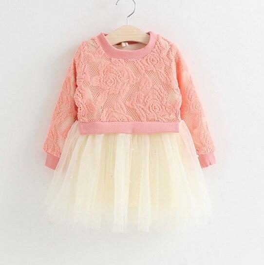 autumn clothes girl dresses for 1 year birthday lace flower baby dress lace tutu dress newborn red tutu dress infantil vestidos