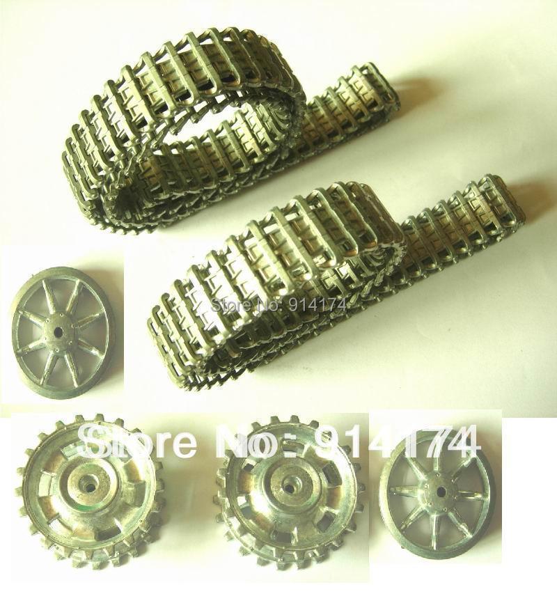 henglong 3849 3848  3868-1 1/16 RC tank upgrade parts metal  track + metal driving wheels  full set  free shipping