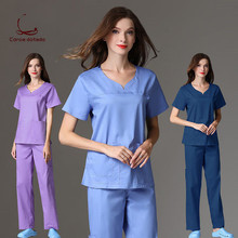 High-quality hand-washing clothes doctors and nurses wear elastic fabric isolation clothing men women