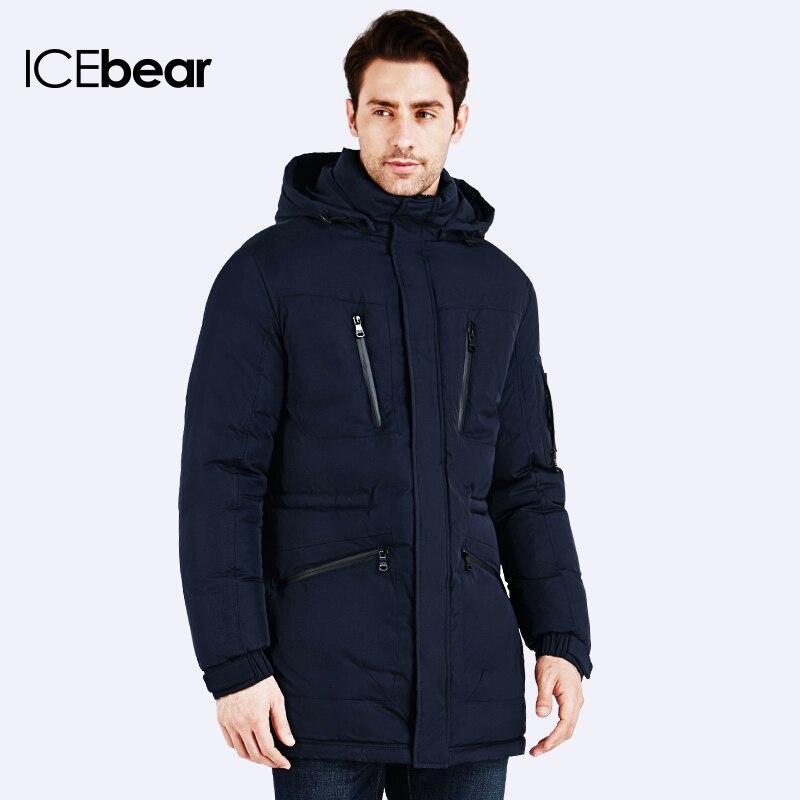 ... icebear зимние куртки мужские длинный приталенный пуховик простая  стильная куртка молодежная зимняя парка ограничители пальто мужская ... 6efdd0c55453e