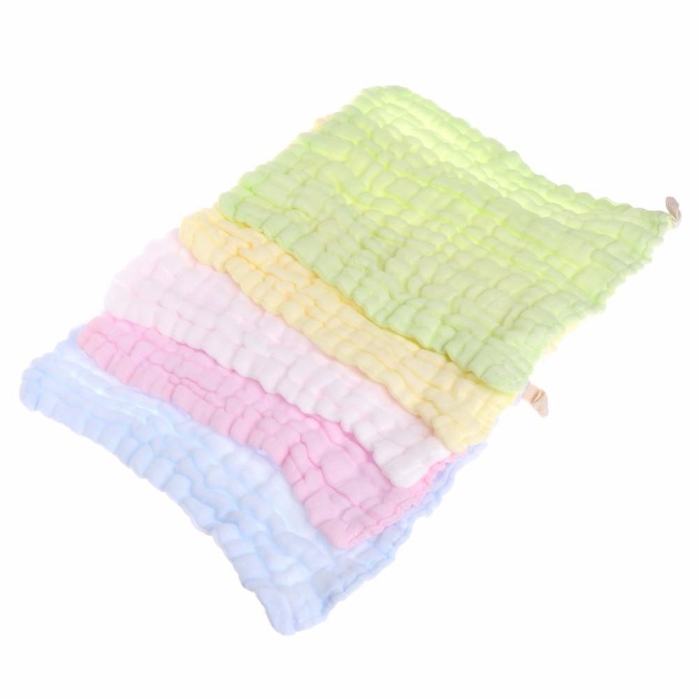 Soft Cotton Baby Infant Newborn Handkerchief Towel Washcloth Feeding Wipe Cloth