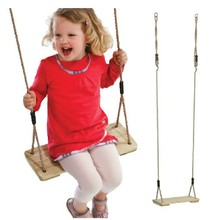 Wooden Baby Kids Swing for Children Plate Toys Outdoor Fun & Sports Improve Health(China)