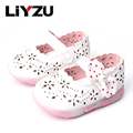 Kid's Shoes Baby Flash Lights Princess Shoes Small Girls Comfortable Children's Baby Shoes Fashion Breathable  2017 Summer New