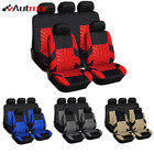 Car Seat Covers Full 9pc SetSplit Option Bench 5 Headrests Front Rear Bench Split Bench Function Original Cover Protection