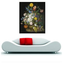 Classical Flowers Bonsai Decoration Grape Fruits Still Life Handpainted Wall Art Painting Print Canvas for Office Decor 1PC