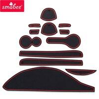Smabee Porta slot pad Per NISSAN CUBE Z12 Porta per Interni Pad/Tazza di tappetini antiscivolo rosso bianco 12pcs su
