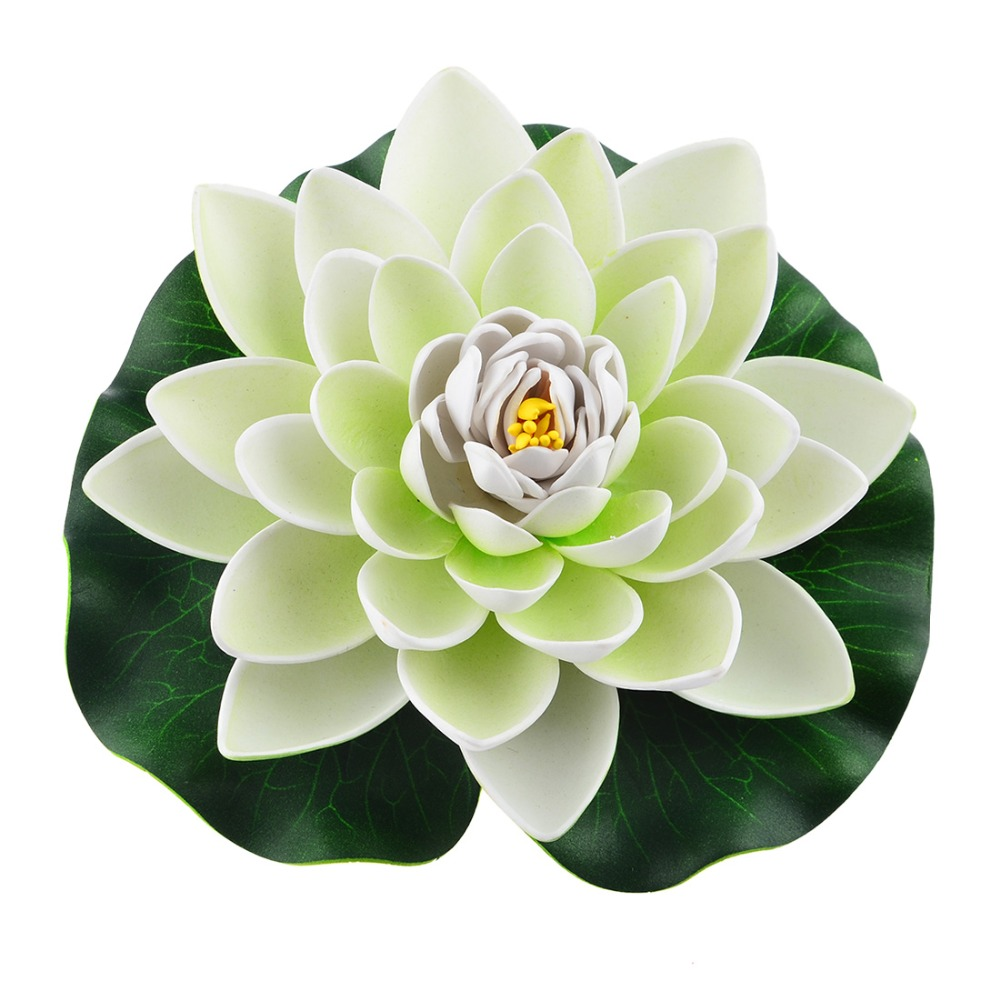 Colorful 18cm water lilies artificial flower pond plants for Fake pond plants