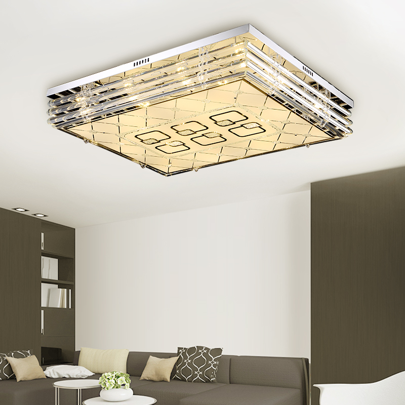 Led living room ceiling lamp rectangular crystal bedroom remote control color change restaurant lights SJ9 light ya71 lo1026