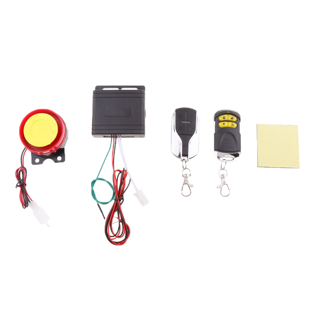 12V Motorcycle Anti-theft Alarm Security System Remote Control Kit Control Remoto Telecommande Motor Accessories