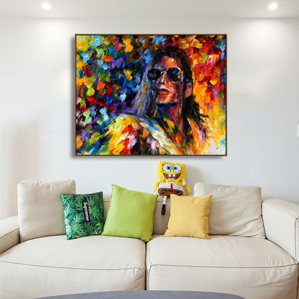 Watercolor Michael Jackson Canvas Prints Painting Calligraphy Home Decoration Wall Art Picture For Living Room Bedroom