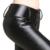 2016 de Invierno PU Cuero Lápiz Pantalones Para Las Mujeres Negro Señoras Polainas De Cuero de Cintura Alta Stretch Mujer Pantalones Largos Pantalones de Lana Caliente