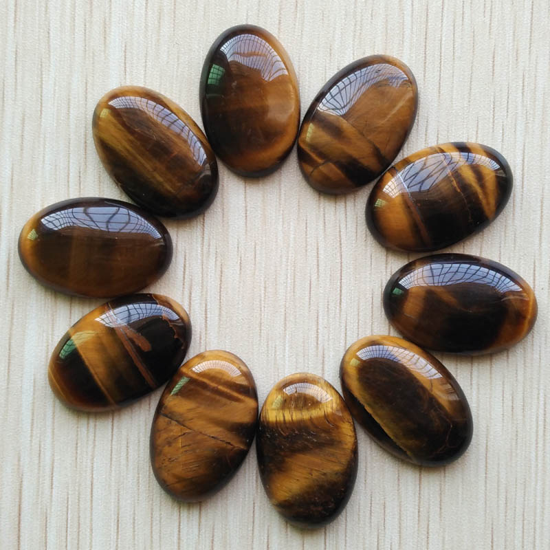 2018 fashion hot sell top quality natural tiger eye stone Oval CAB CABOCHON beads 20x30mm 10pcs/lot Wholesale Free shipping