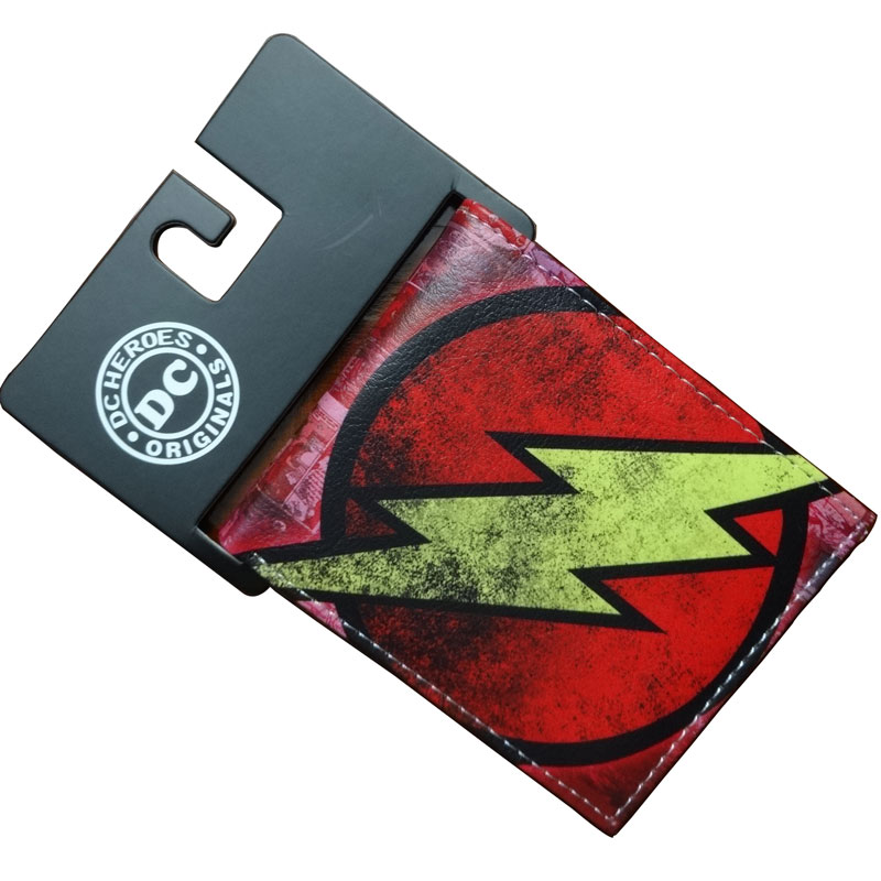 DC Super Hero around the Justice League flash Flashman Wonder Woman American Street Purse PU Leather Short Wallet
