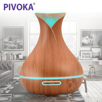 PIVOKA Air Diffuser 300ML LED Lamp Electric Aroma Diffuser Aromatherapy Essential Oil Diffuser Humidifier Ultrasonic Mist