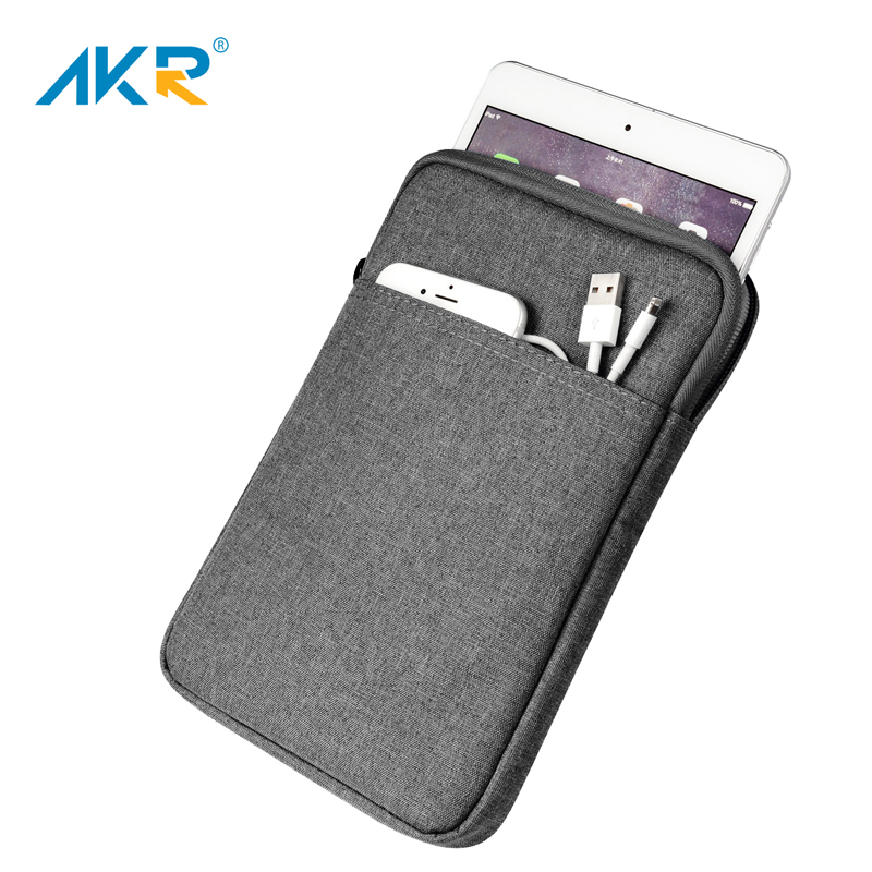 AKR Shockproof Case For iPad Pro 11 inch 2018 Cover Soft Tablet Sleeve Zipper Pouch(China)