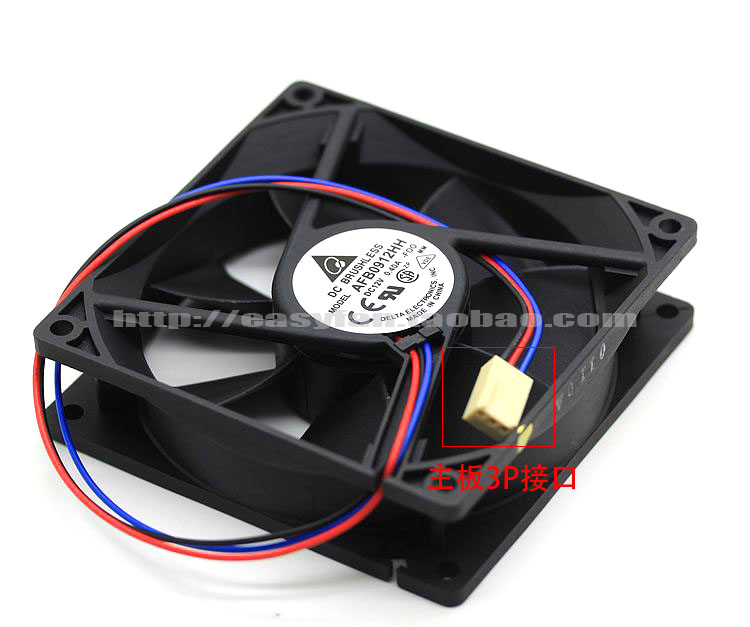 Delta AFB0912HH F00 DC 12V 0.40A 90x90x25mm Server Square fan