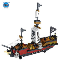 DIY 3D Model Pirate RMS Titanic Ship Action Figure ABS Bricks Building Blocks Educational Bricks Figures