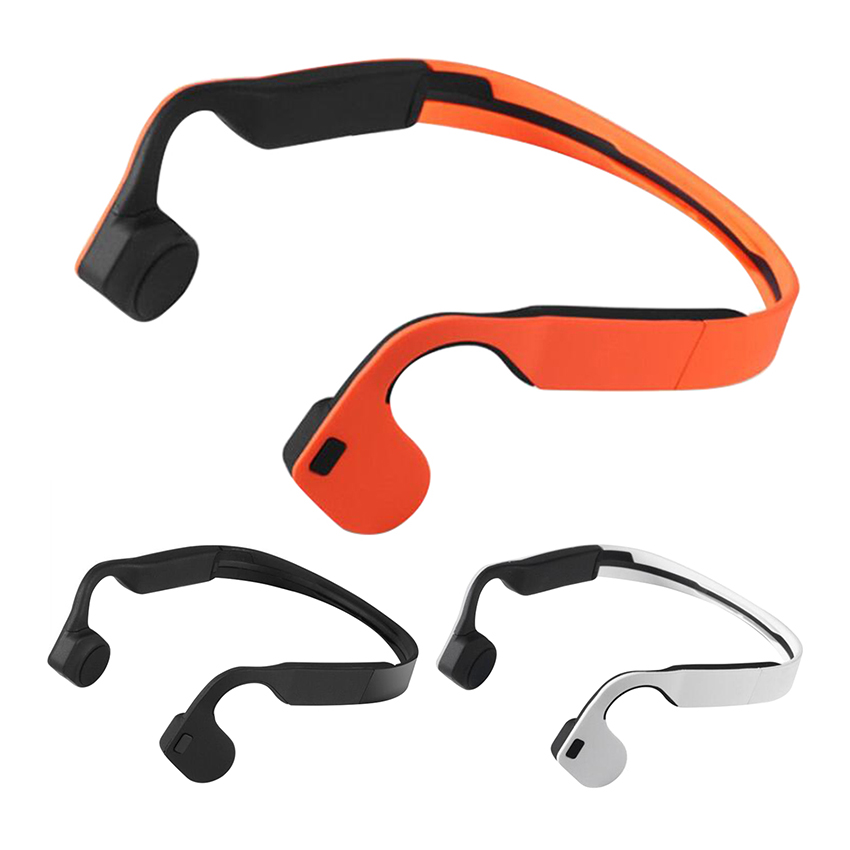 Bone Conduction Sports Bluetooth 4.0 Earphone Cell Phone Stereo Headphone Headset Mic Microphone Support Hands Free Call