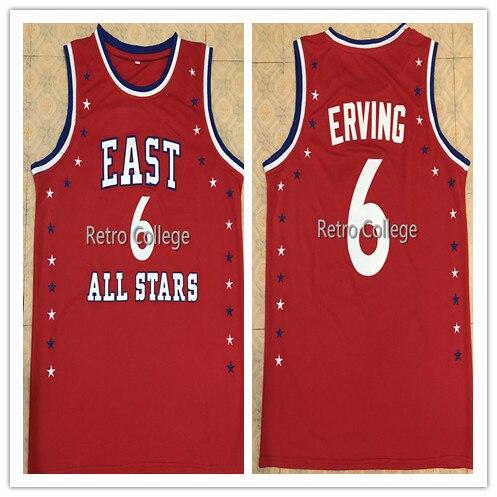 #6 Julius Erving 1972 All Star hommes basket-ball Jersey broderie cousu personnaliser n'importe quel nom et numéro